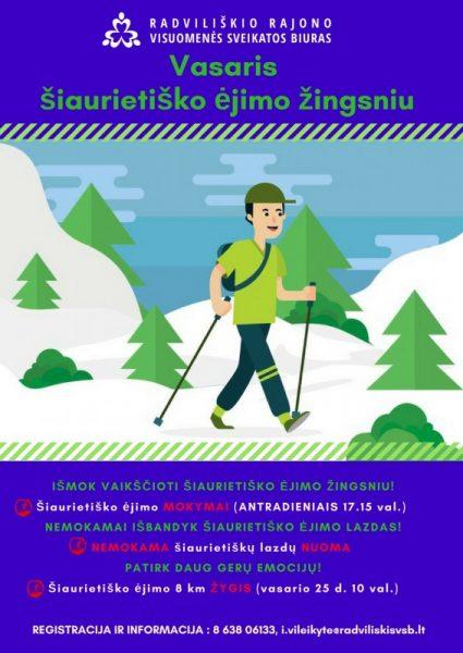 Vasaris - šiaurietiško ėjimo žingsniu @ Radviliškio rajono visuomenės sveikatos biuras | Radviliškis | Šiaulių apskritis | Lietuva