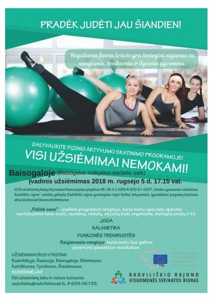 """""""Pažink save"""" Fizinio aktyvumo skatinimo programos įvadinis renginys Baisogaloje @ Baisogalos mokykla - darželis"""