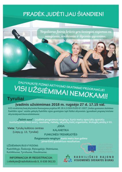 Funkcinės treniruotės Tyruliuose @ Tyrulių kultūros centras | Radviliškis | Šiaulių apskritis | Lietuva