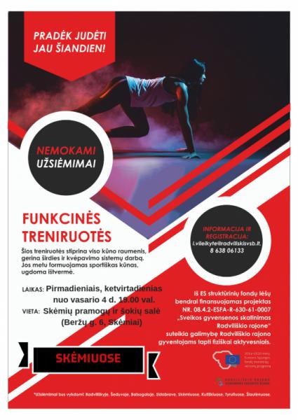 Funkcinės treniruotės Skėmiuose @ Skėmiai. Pramogų ir šokių salė (Beržų g. 6, Skėmiai)