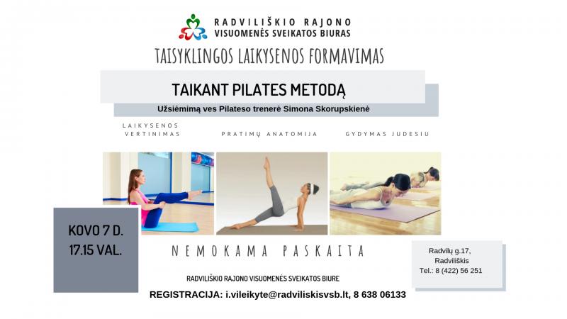 Taisyklingos mitybos formavimas taikant Pilates metodą @ Radviliškio rajono visuomenės sveikatos biuras