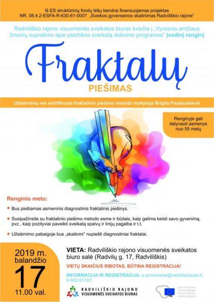 Fraktalų piešimas 55+ @ Radviliškio rajono visuomenės sveikatos biuras, Radvilų g. 17
