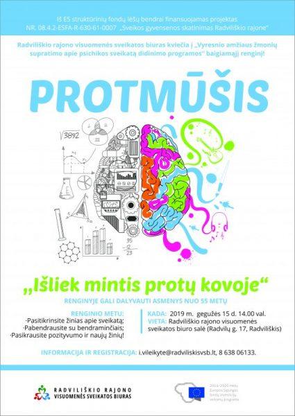 """Protmūšis ,,Išliek mintis protų kovoje"""" 55+ @ Radviliškio rajono visuomenės sveikatos biuras"""