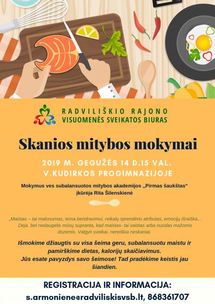 Skanios mitybos mokymai @ Radviliškio V. Kudirkos progimnazija