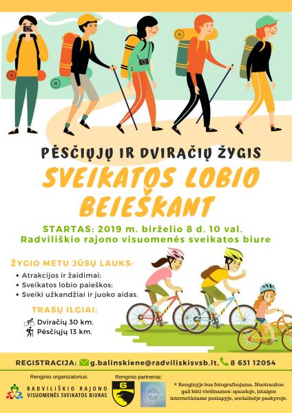 """Žygis """"Sveikatos lobio beieškant"""" @ Radviliškio rajono visuomenės sveikatos biuras"""