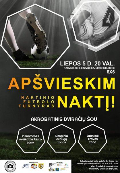 """Sveikatos palapinė renginyje """"Apšviesk naktį"""" @ Radviliškio Lietuvos sąjūdžio stadionas"""