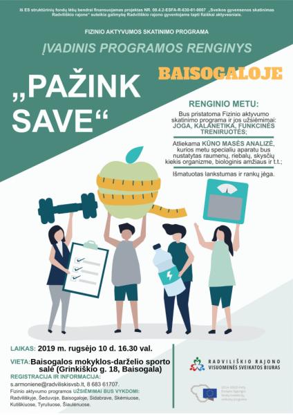 """""""Pažink save"""" programos įvadinis renginys Baisogaloje @ Baisogala mokyklos - darželio sporto salė (Grinkiškio g. 18, Baisogala))"""