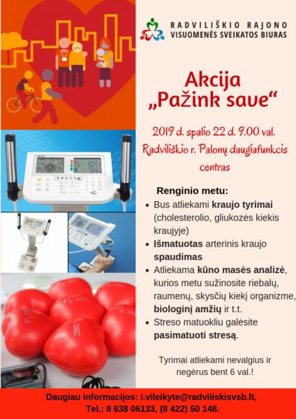 """Akcija """"Pažink save"""" Polonuose @ Radviliškio r. Polonų daugiafunkcis centras"""