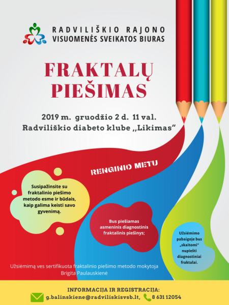 """Fraktalų piešimas Radviliškio diabeto klubo ,,Likimas"""" nariams @ Radviliškio diabeto klubas ,,Likimas"""""""
