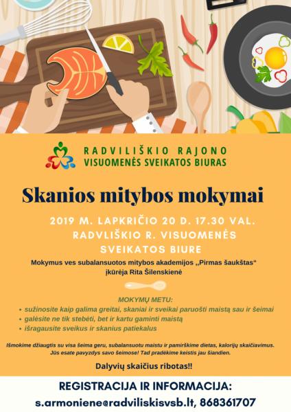 Skanios mitybos mokymai @ Radviliškio rajono visuomenės sveikatos biuras