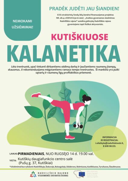 Kalanetika Kutiškiuose @ Kutiškių daugiafinkcis centras