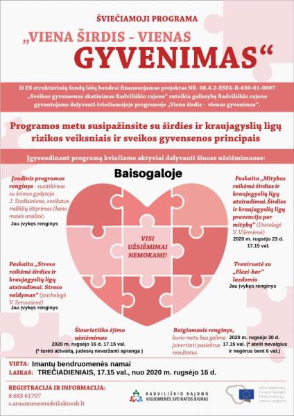 """Šviečiamosios programos """"Viena širdis – vienas gyvenimas"""" šiaurietiško ėjimo užsiėmimas Imantų bendruomenės namuose @ Imantų bendruomenės namuose"""