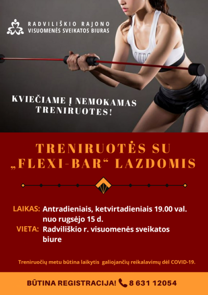 """Treniruotės su ,,Flexi-bar"""" lazdomis @ Radviliškio rajono visuomenės sveikatos biuras"""